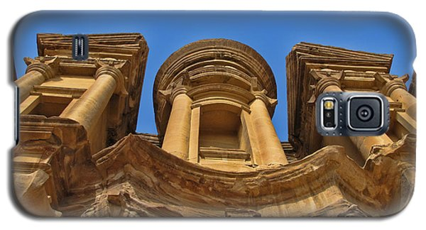 Galaxy S5 Case featuring the photograph The Monastery In Petra by David Gleeson