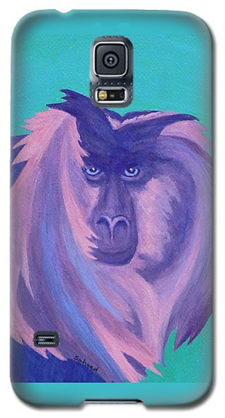 Galaxy S5 Case featuring the painting The Monkey's Mane by Margaret Saheed