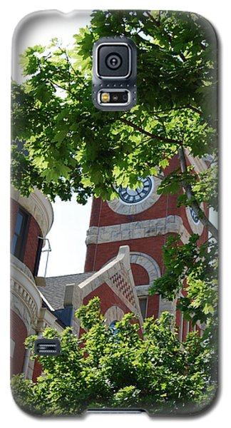 Galaxy S5 Case featuring the photograph The Monroe Courthouse Tower by Ramona Whiteaker