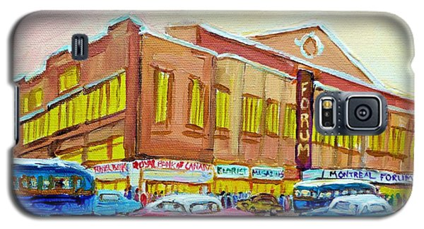 Galaxy S5 Case featuring the painting The Montreal Forum by Carole Spandau