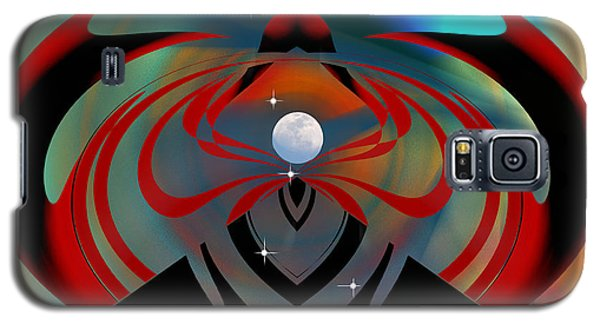 Galaxy S5 Case featuring the digital art The Moon In Cancer by rd Erickson