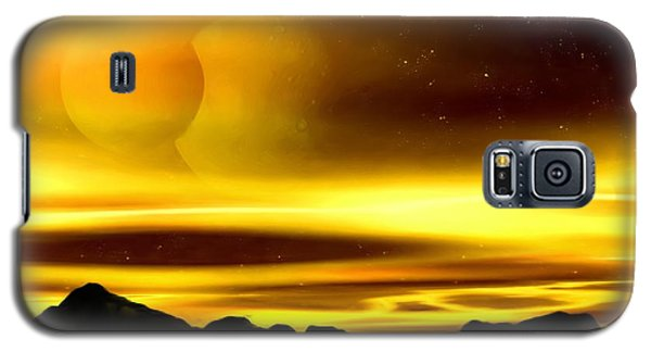 Galaxy S5 Case featuring the painting The Moons Of Midas by Pet Serrano