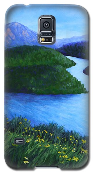 Galaxy S5 Case featuring the painting The Mountains Beyond by Penny Birch-Williams