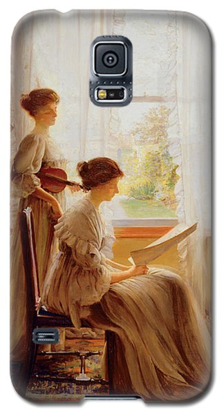 Violin Galaxy S5 Case - The Music Lesson, C.1890 by American School