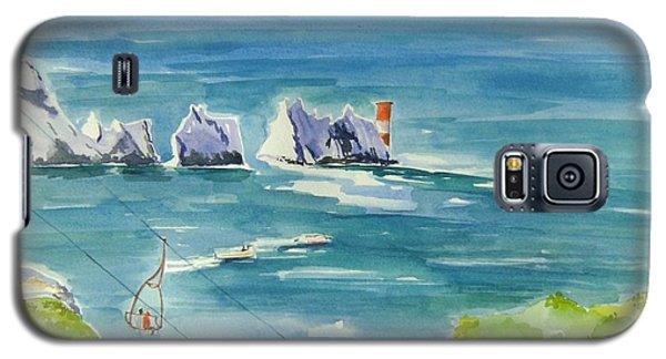 Galaxy S5 Case featuring the painting The Needles Isle Of Wight by Geeta Biswas