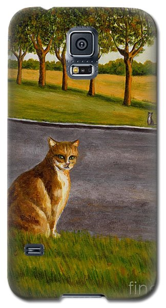 Galaxy S5 Case featuring the painting The Obscure Communication Between Cats by Jingfen Hwu