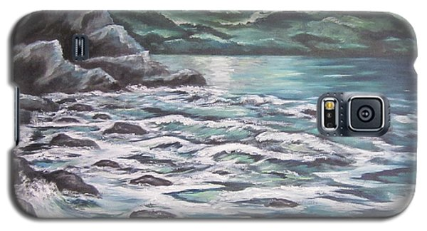 Galaxy S5 Case featuring the painting The Ocean Sings The Sky Listens 3 by Cheryl Pettigrew