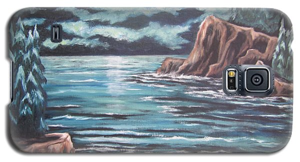 Galaxy S5 Case featuring the painting The Ocean's Quiet Beauty by Cheryl Pettigrew