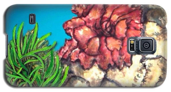 Galaxy S5 Case featuring the painting The Odd Couple Two Very Different Sea Anemones Cohabitat by Kimberlee Baxter