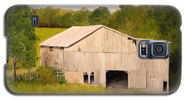 Galaxy S5 Case featuring the painting The Old Barn by Alan Lakin