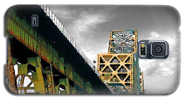 Galaxy S5 Case featuring the digital art The Old Bridge Hwy 190 Mississippi River Bridge Baton Rouge by Lizi Beard-Ward