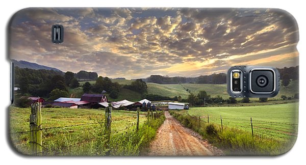 The Old Farm Lane Galaxy S5 Case by Debra and Dave Vanderlaan
