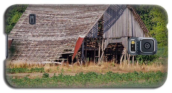 Galaxy S5 Case featuring the photograph The Old Gray Barn by Nick Kirby