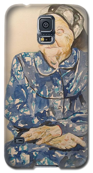 The Old Holocaust Survivor Galaxy S5 Case by Esther Newman-Cohen