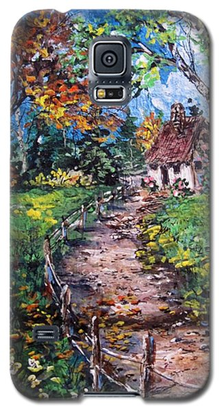 Galaxy S5 Case featuring the painting The Old Homestead by Megan Walsh
