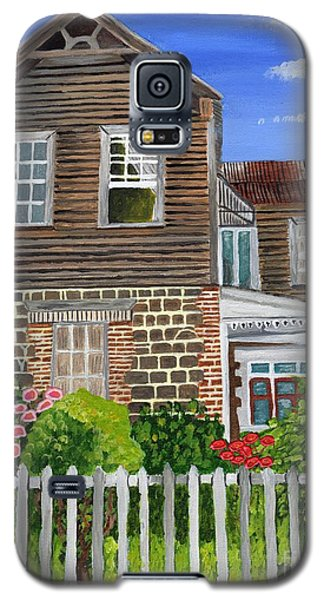 Galaxy S5 Case featuring the painting The Old House by Laura Forde