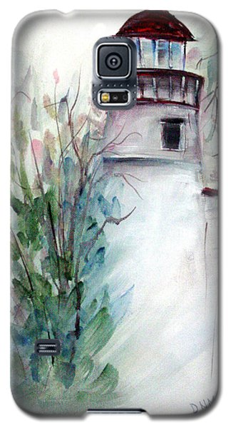 Galaxy S5 Case featuring the painting The Old Lighthouse by Dorothy Maier