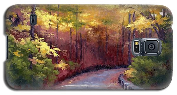 Galaxy S5 Case featuring the painting The Old Roadway In Autumn II by Janet King