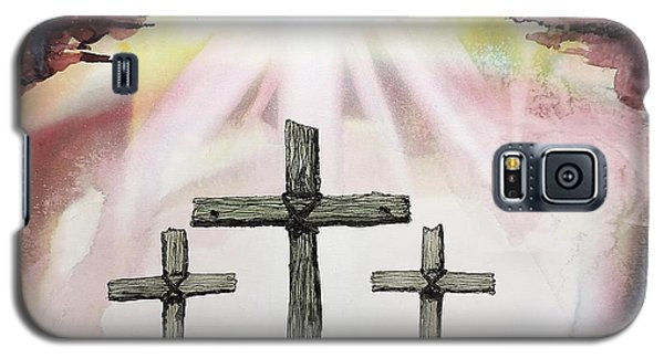 Galaxy S5 Case featuring the painting The Old Rugged Cross by Tom Riggs