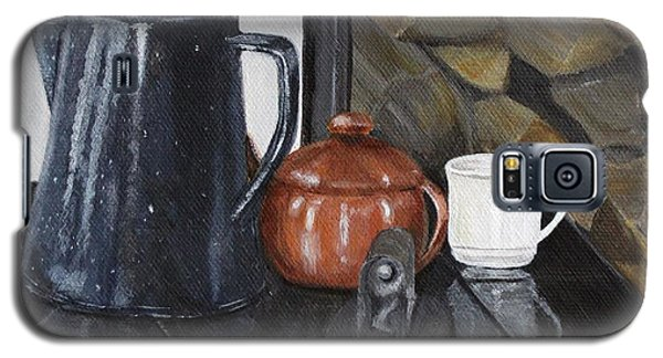 Galaxy S5 Case featuring the painting The Old Stovetop by Jesslyn Fraser