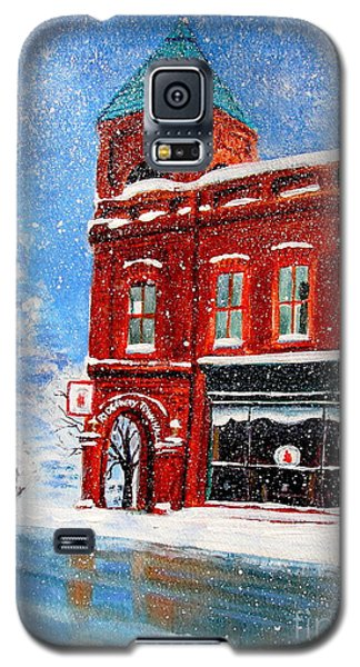 Galaxy S5 Case featuring the painting The Old Town Hall by Patricia L Davidson