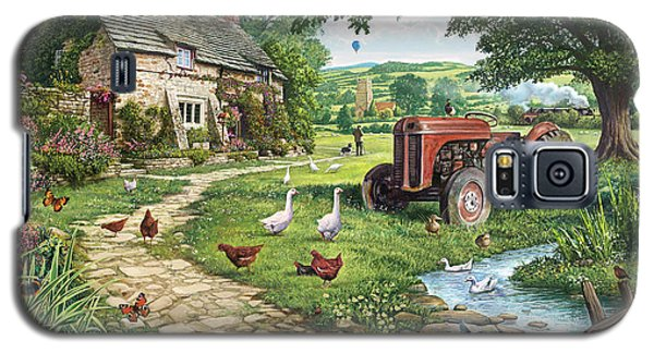 Geese Galaxy S5 Case - The Old Tractor by Steve Crisp