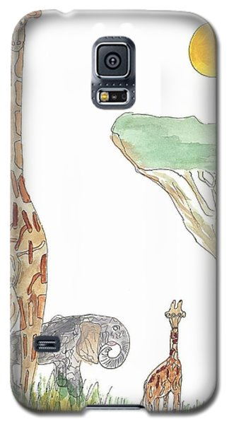 Galaxy S5 Case featuring the painting The Elephant Orphan by Helen Holden-Gladsky