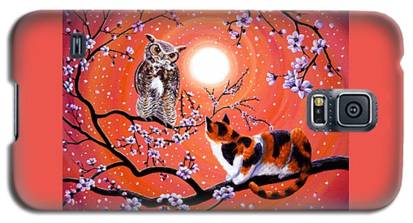 The Owl And The Pussycat In Peach Blossoms Galaxy S5 Case