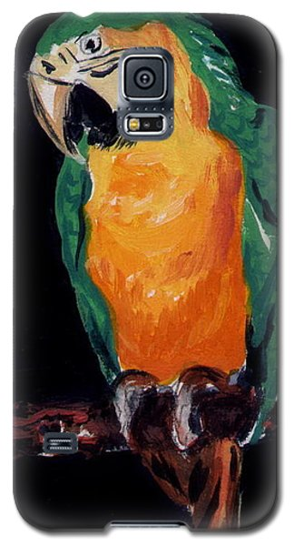 Galaxy S5 Case featuring the painting The Parrot by Joyce Gebauer