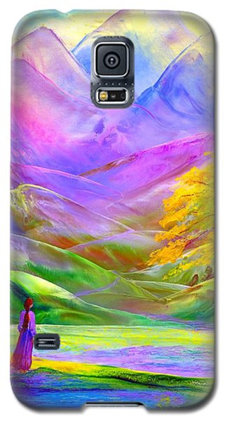 Misty Mountains, Fall Color And Aspens Galaxy S5 Case by Jane Small