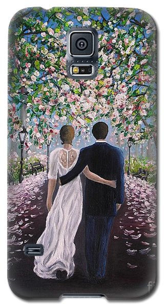 Galaxy S5 Case featuring the painting The Path Of Love  by Vesna Martinjak