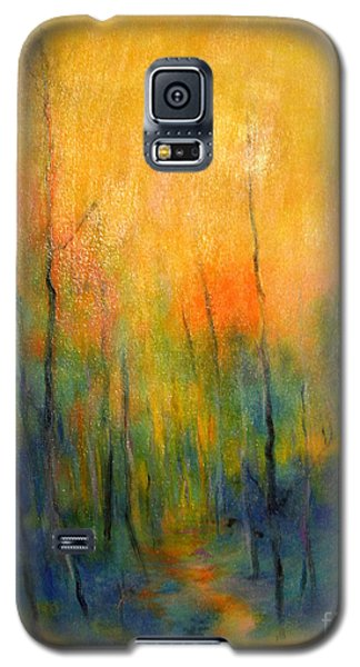 Galaxy S5 Case featuring the painting The Path To Forever by Alison Caltrider