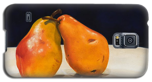 Galaxy S5 Case featuring the painting The Pearfect Pair by Dee Dee  Whittle