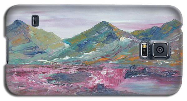 Galaxy S5 Case featuring the painting The Peat Bog by Conor Murphy
