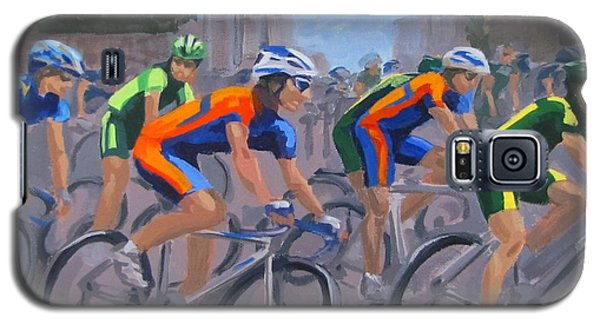 Galaxy S5 Case featuring the painting The Peloton by Karen Ilari