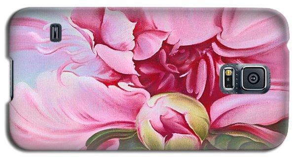 Galaxy S5 Case featuring the painting The Peony by Anna Ewa Miarczynska
