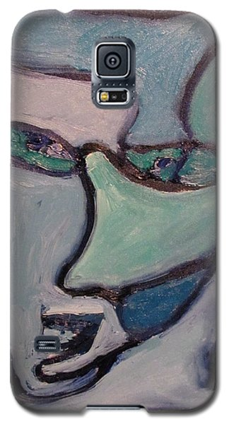 Galaxy S5 Case featuring the painting The Perpetrator  by Shea Holliman