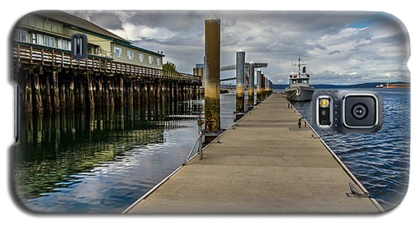 Galaxy S5 Case featuring the photograph The Pier At The Dock Tacoma Wa by Rob Green