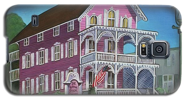 The Pink House In Cape May Galaxy S5 Case by Melinda Saminski