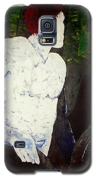 Galaxy S5 Case featuring the painting The Plowman by Carrie Maurer