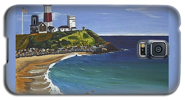 Galaxy S5 Case featuring the painting The Point by Donna Blossom