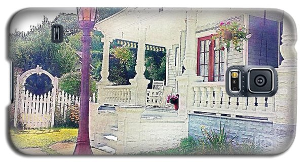 The Porch Lamp Post And The Gate Galaxy S5 Case by Becky Lupe