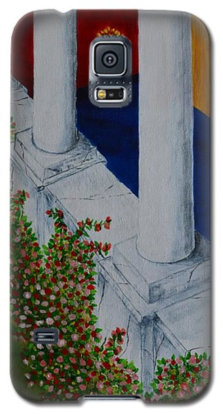 Galaxy S5 Case featuring the painting The Porch by Melvin Turner