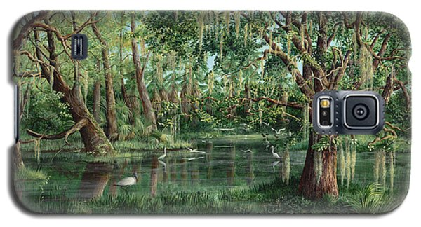 Galaxy S5 Case featuring the painting The Preacher And His Flock by AnnaJo Vahle