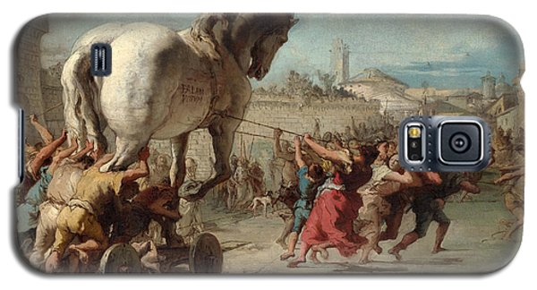 The Procession Of The Trojan Horse Into Troy Galaxy S5 Case