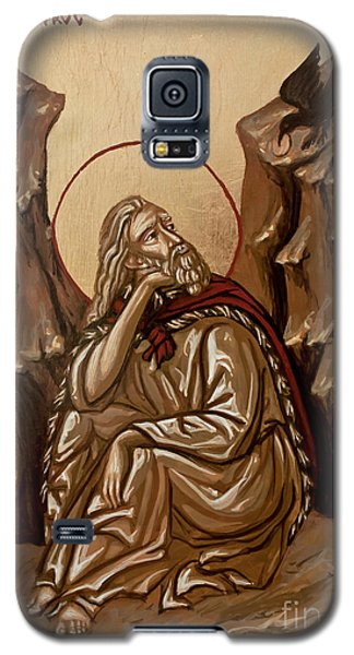Galaxy S5 Case featuring the painting The Prophet Elijah by Olimpia - Hinamatsuri Barbu