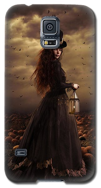 Raven Galaxy S5 Case - The Pumpkin Patch by Shanina Conway
