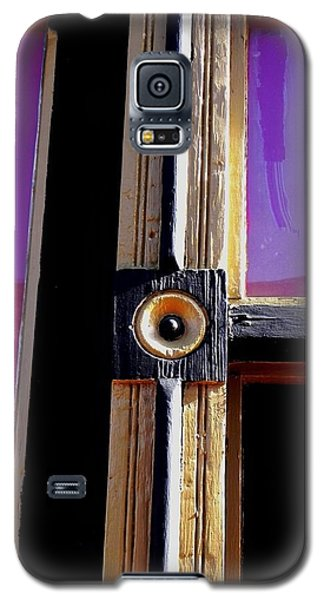 Galaxy S5 Case featuring the photograph The Purple Door by Peggy Stokes