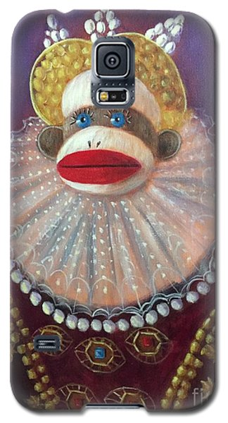 Galaxy S5 Case featuring the painting The Proud Queen by Randol Burns