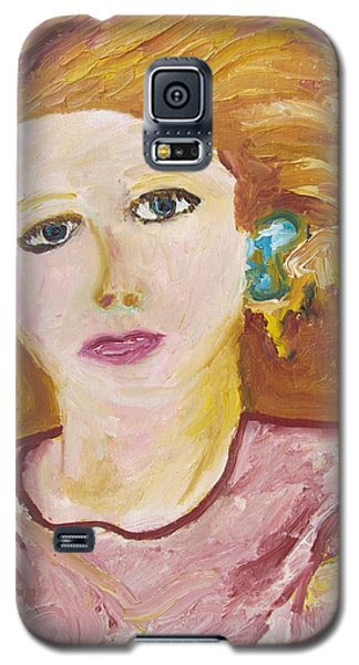 Galaxy S5 Case featuring the painting The Queen by Shea Holliman